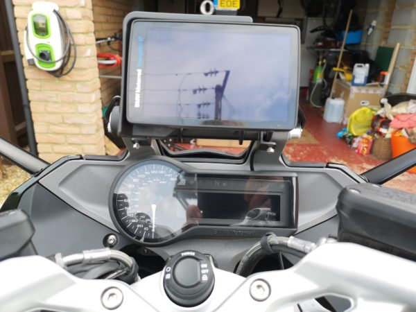 Raised Navigation Mount for BMW RS Series CAD Drawing - MOTO-MATE.COM