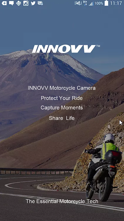 Mobile Appf for INNOVV K2 motorcycle camera system