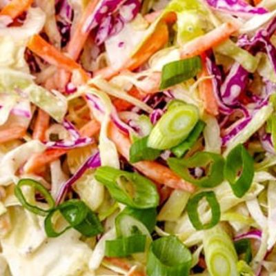 Fresh veg from our customer Richard turned into tasty coleslaw