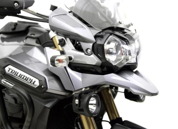 DENALI Driving Light Mount - Triumph Tiger Explorer 1200 & Tiger Explorer XC '12-'15 DENLAH.11.10100 - MOTO-MATE.COM