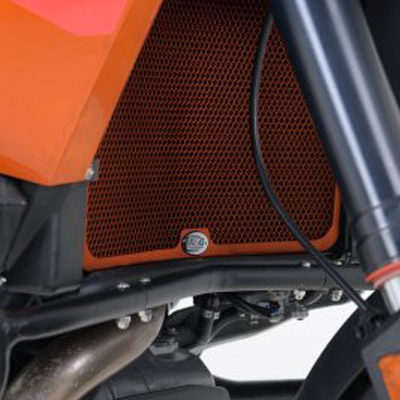 Orange Radiator Guards for the KTM 1090 Adventure '17-, KTM 1190 Adventure '13- and the 1290 Super Adventure '15-
